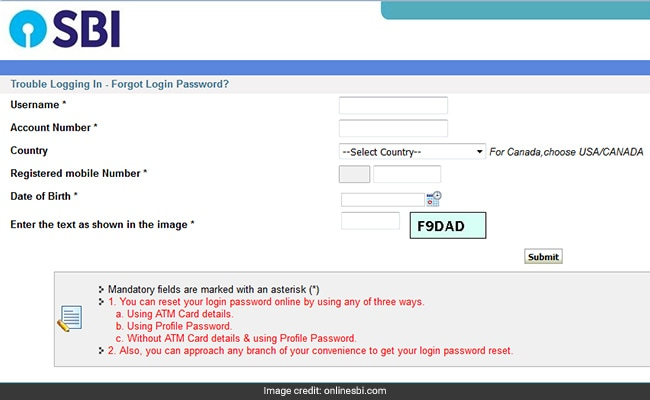 Sbi bank online account opening form