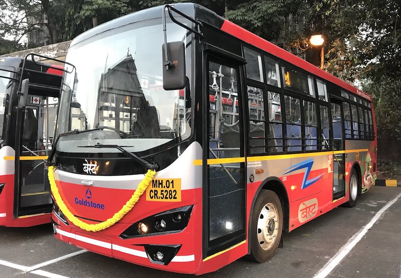 Goldstone-BYD Deliver 6 Electric Buses To Mumbai BEST For Public Transport