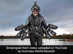 World's Fastest Body-Powered Jet Pack Sets Guinness Record