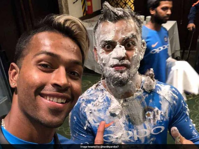 On Virat Kohlis 29th Birthday, Hardik Pandya Gets His Revenge