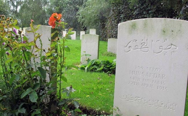 indian soldiers graves wwi
