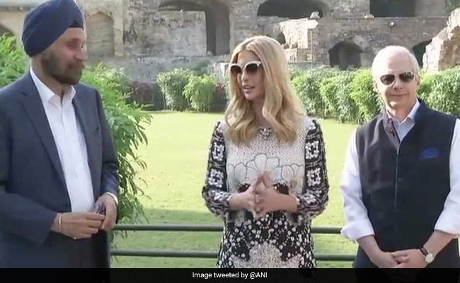 Ivanka Trump Visits Golconda Fort In Hyderabad