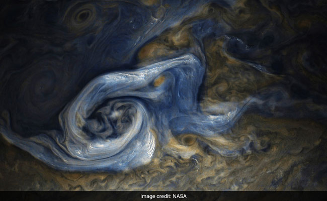 This Is What A Raging Storm On Jupiter Looks Like, Courtesy NASA