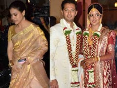 Photos: Kajol, Ajay Devgn Attend Ishita Dutta And Vatsal Sheth's Wedding