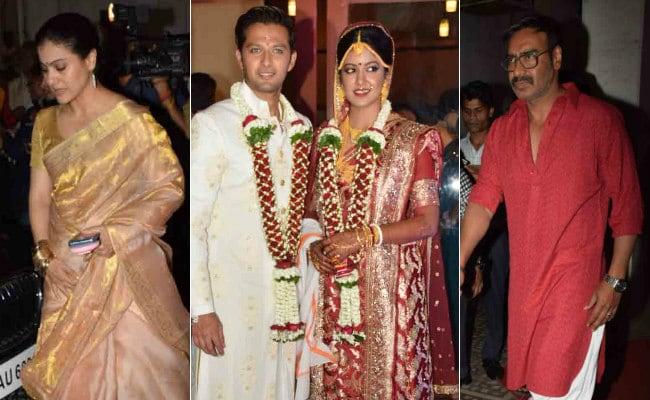 Photos Kajol Ajay Devgn Attend Ishita Dutta And Vatsal Sheths Wedding