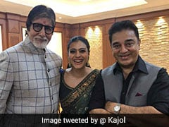 Kajol's Pic With 'Legends' Amitabh Bachchan And Kamal Haasan
