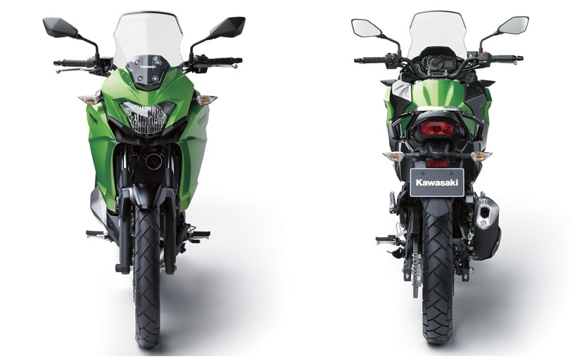 kawasaki versys x 300 front and rear