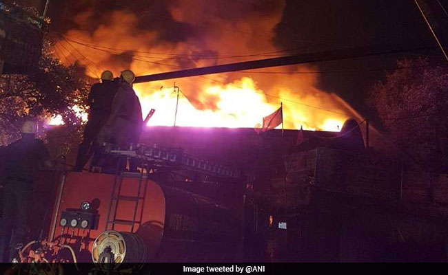 Huge Fire Sweeps Through Kolkata Godown, 20 Fire Engines On Spot