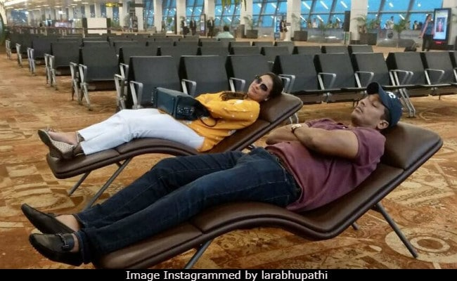 Lara Dutta, Grounded By Delhi Smog, Finds T3's 'Best Spot' For A Nap