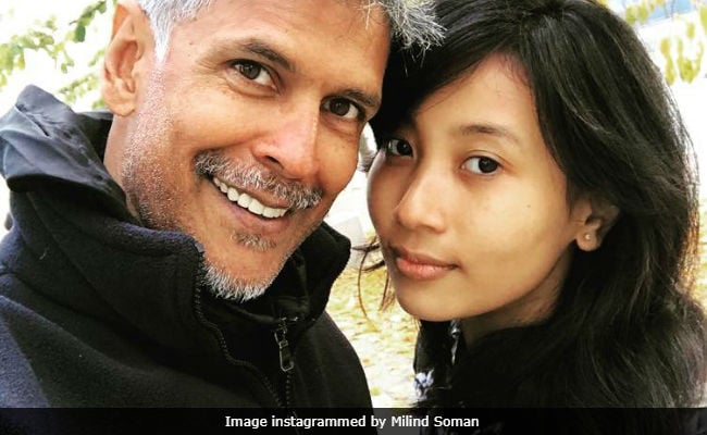 Milind Soman posts birthday selfie with girlfriend; Internet goes berserk