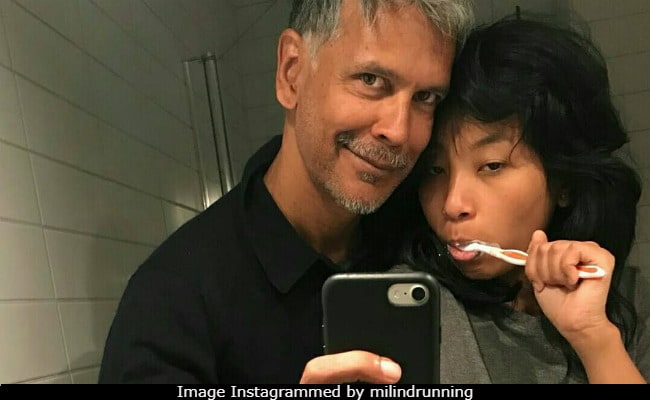 Milind Soman Doesn't Care About Trolls. Posts New Selfie With Girlfriend Ankita Konwar