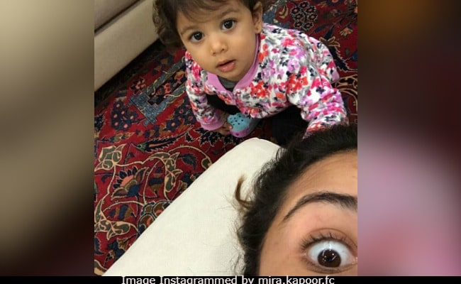 Baby Misha And Mom Mira Rajput's Eye In One Epic Selfie
