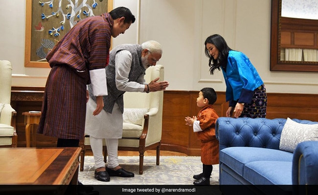 Spotlight On Bhutan's Little Prince On His First Visit To India