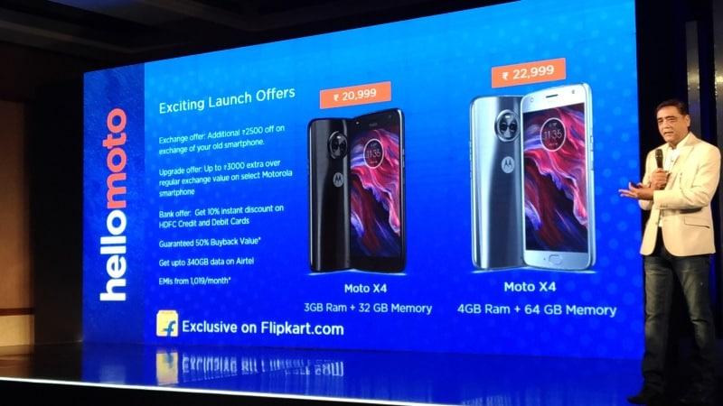 Moto X4 लॉन्च हुआ भारत में, दो रियर कैमरे वाले इस हैंडसेट की कीमत जानें