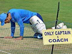 MS Dhoni, Despite Retiring From Tests, Checks Eden Pitch Ahead Of Sri Lanka Test