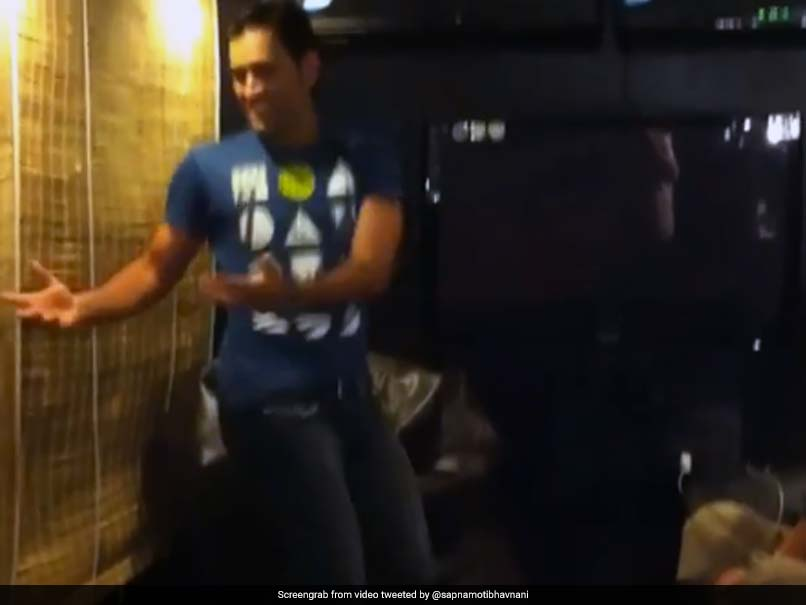 MS Dhoni Shows Off Dancing Skills, Wife Sakshi Can't Stop Laughing