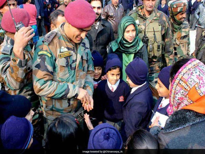 Mahendra Singh Dhoni Pays Surprise Visit To School In Srinagar, Emphasises Importance Of Studies And Sports