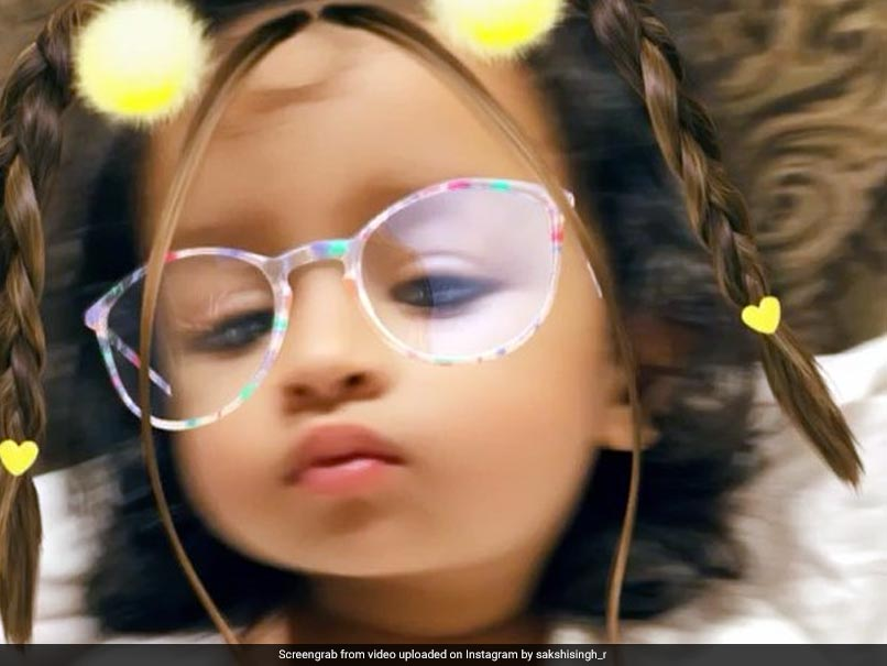 Watch: MS Dhoni's Daughter Ziva Pouts For The Camera, Wins Hearts