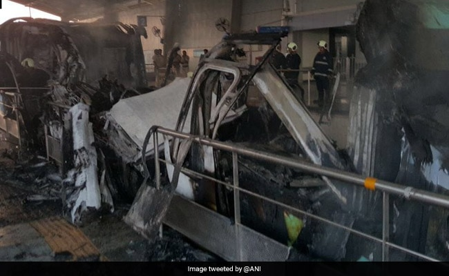 Mumbai's Monorail Services Halted For Hours After 2 Coaches Catch Fire