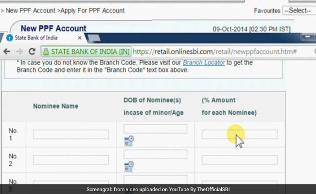 ppf account opening online in sbi bank