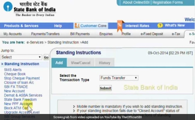 sbi online new bank account