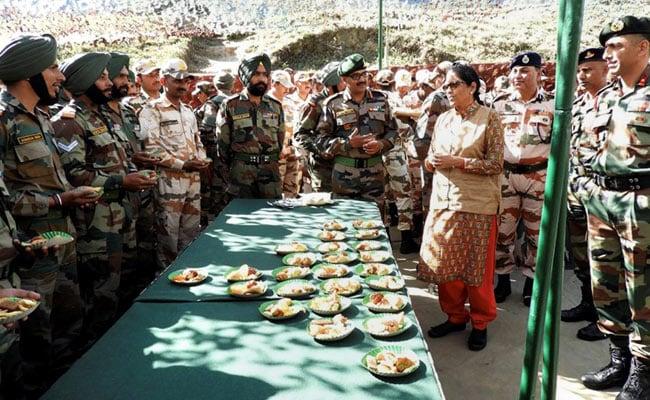 Nirmala Sitharaman Visits Forward Army Posts Near China Border
