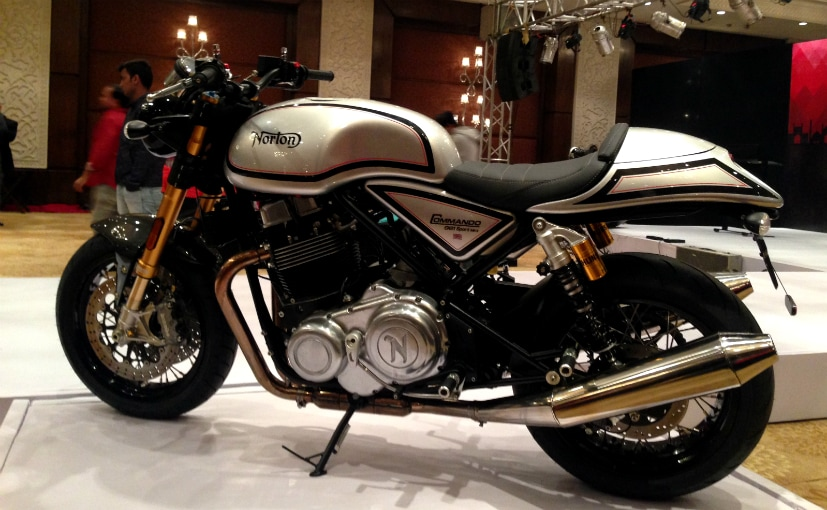 The Norton Commando is powered by a 961 cc, parallel-twin engine