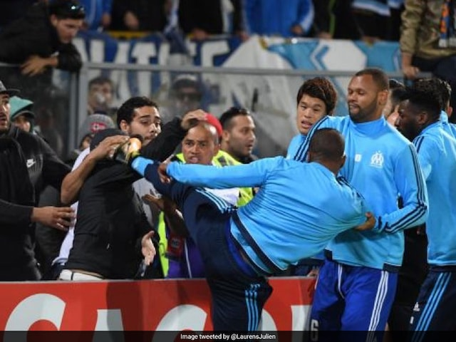 Patrice Evra Sent Off Before Europa League Game For Karate Kick On Own Fan