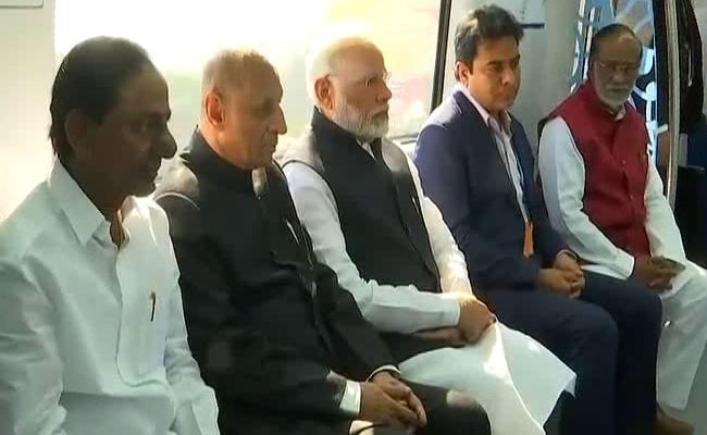 PM Modi Launches The Hyderabad Metro, Will Inaugurate GES Shortly