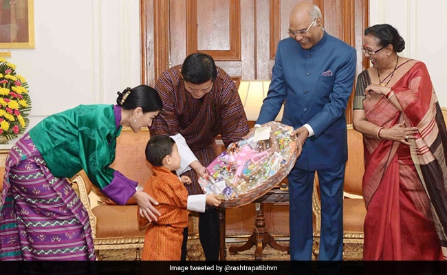 president kovind with the royal family of bhutan