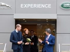 Royal Couple William And Kate Take A Tour Of Jaguar Land Rover's Solihull Plant