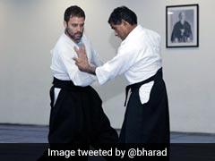 राहुल गांधी हैं अकीडो में ब्लैक बेल्ट, ट्विटर पर कांग्रेस ने साझा की तस्वीरें