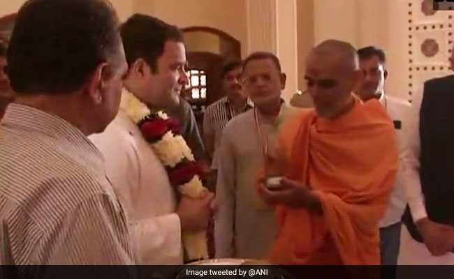 Rahul Gandhi Begins Tour Of North Gujarat With Visit To Akshardham Temple
