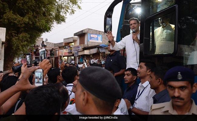 rahul gandhi bus surat gujarat twitter