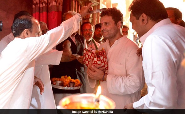 rahul gandhi gujarat temple twitter