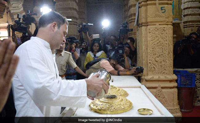 As Rahul Gandhi Prays At Somnath Temple, BJP Attacks Jawaharlal Nehru