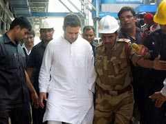 Rahul Gandhi Visits NTPC Plant, Boiler Plant Victims In Raebareli