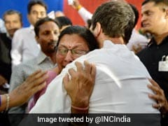 Rahul Gandhi Turns Emotional, Hugs Lecturer On Listening To Plight