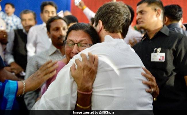 Rahul Gandhi Turns Emotional, Hugs Lecturer On Listening To Plight