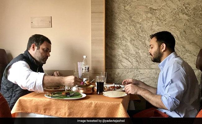 Tejashwi overwhelmed after lunch with Rahul