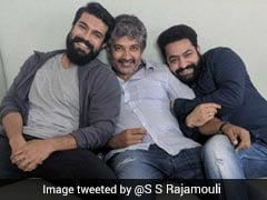 This Pic Of <i>Baahubali</i> Director With Junior NTR And Ram Charan Is Going Viral