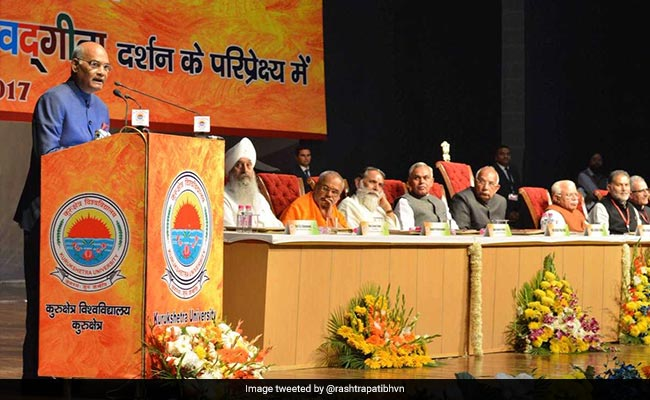 Women empowerment owes its origin to Gita: Kovind