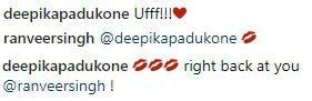 ranveer deepika reactions instagram