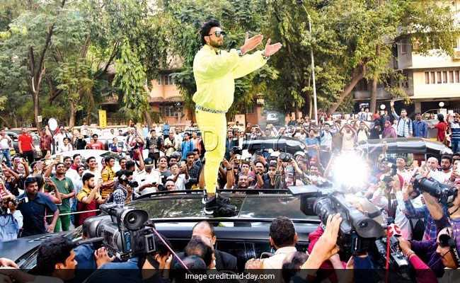 Atop Car And With Police Protection, Ranveer Singh Takes 'Padmavati' Question