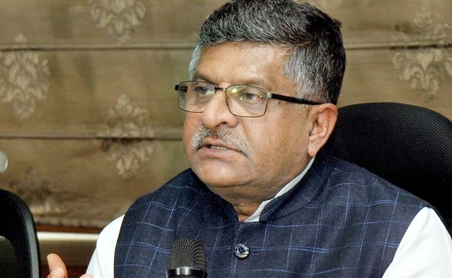 Panel On Data Protection Law To Submit Report Soon: Ravi Shankar Prasad