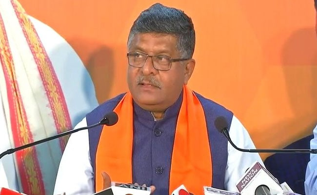 No Interference From Government, Law Must Take Its Course: Ravi Shankar Prasad On Karti Arrest
