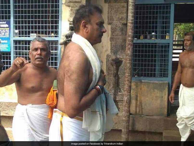Ravi Shastri, Shikhar Dhawan Visit Renowned Thiruvananthapuram Temple Ahead Of Final T20I