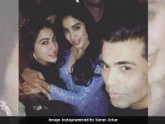 Sara Ali Khan And Jhanvi Kapoor Strike A Perfect Pose With Karan Johar