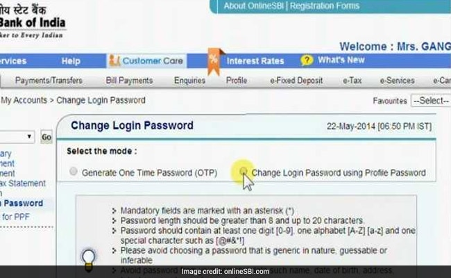 SBI Internet Banking: How To Change Login, Profile Passwords