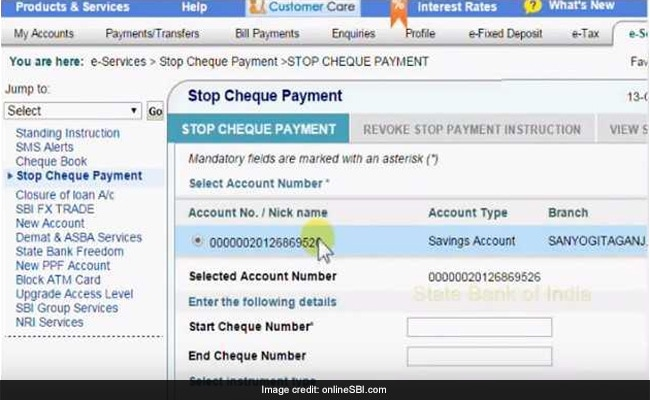 Bank Of Baroda Cheque Book Request Form Pdf
